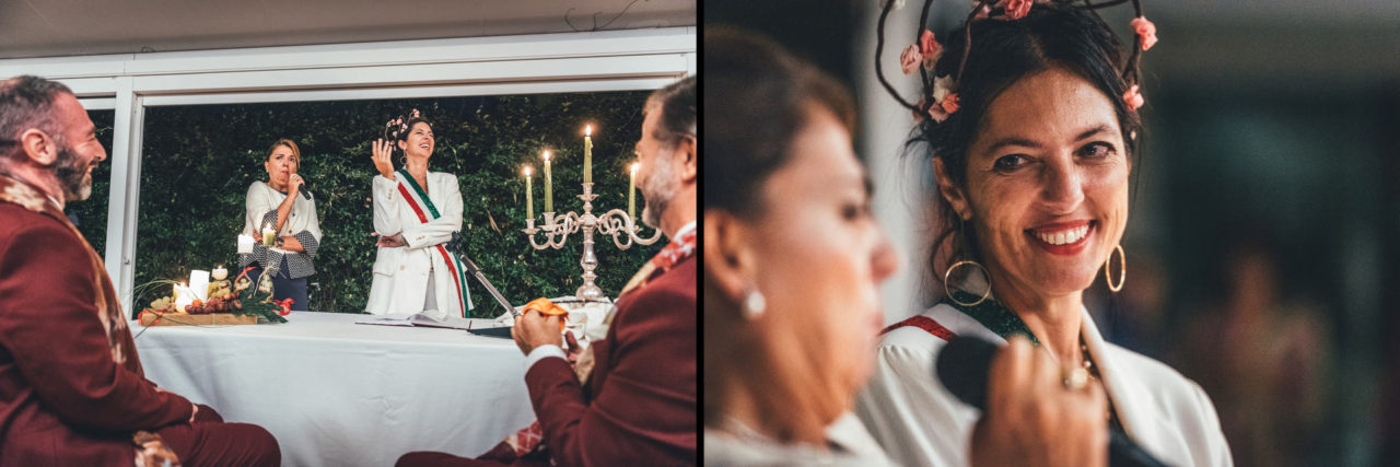 Outstanding Wedding Reportage in Palermo Ceremony With Smiles in Officine Baronali Tommaso D'Angelo Photographer