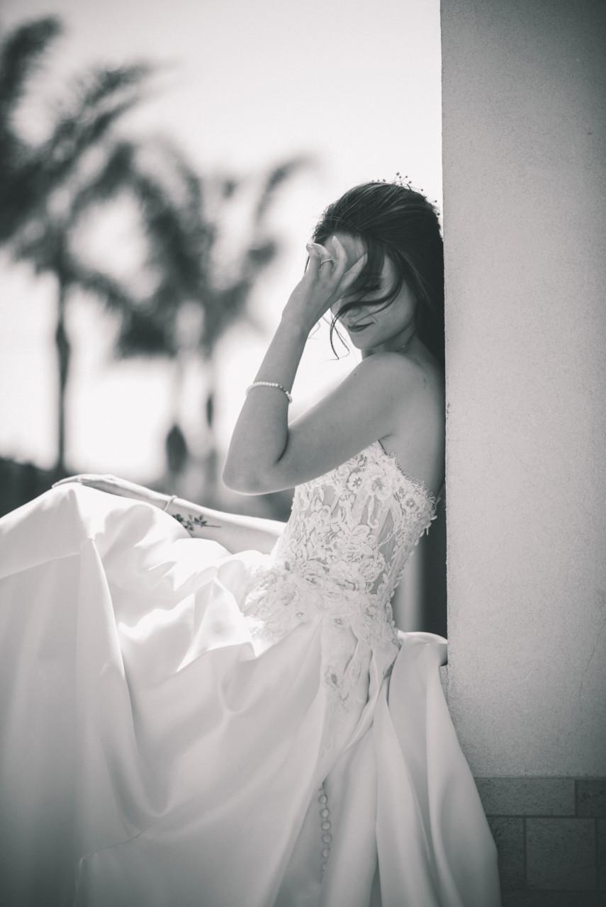 Ritratto Sposa all'aperto. Fotografia di Tommaso D'Angelo