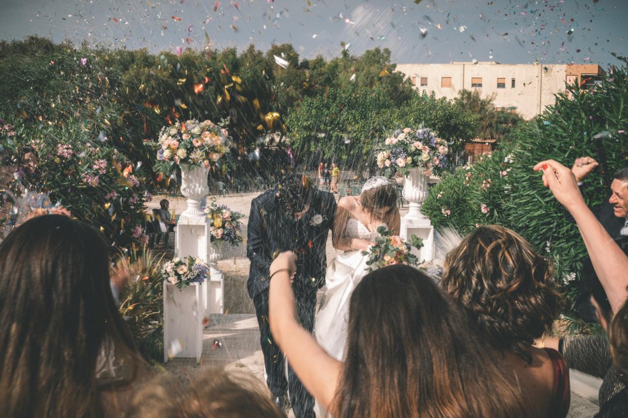 Lancio del Riso alla Fine della Cerimonia. Fotografia di Tommaso D'Angelo