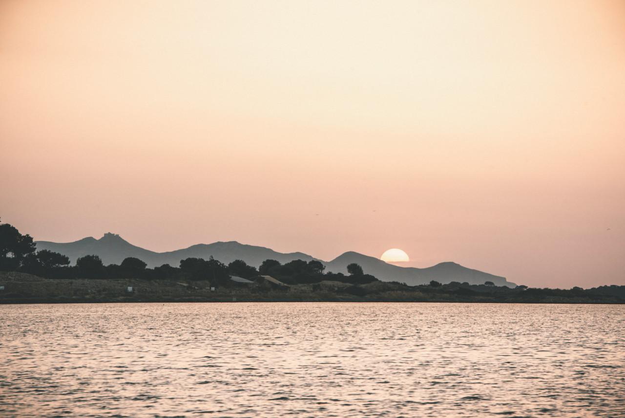 Tramonto all'isola di Mozia. Fotografia di Tommaso D'Angelo